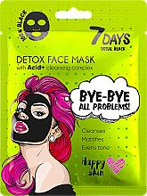 Kup Maseczka do twarzy - 7 Days Total Black Bye bye All Problems Detox Face Mask