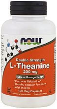 Suplement diety Teina, 200 mg - Now Foods L-Theanine Double Strength Veg Capsules — фото N3