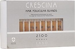 Kup Kuracja w ampułkach dla kobiet stymulująca wzrost włosów i hamująca ich wypadanie - Crescina Hair Follicular Island 2100 Woman