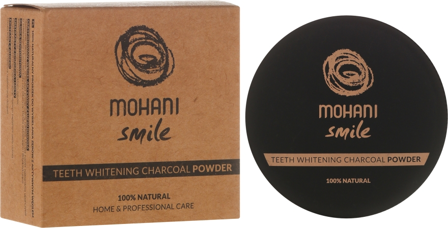 Wybielający proszek do zębów z węglem aktywnym - Mohani Smile