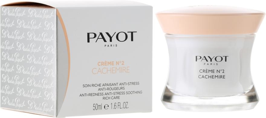 Kojący preparat zmniejszający stres i zaczerwienienie skóry - Payot Crème N°2 Cachemire CC Anti-Redness Anti-Stress Soothing Rich Care — фото N1