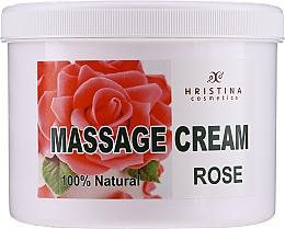 Kup Krem do masażu twarzy i ciała z różą bułgarską - Hristina Cosmetics Massage Cream Bulgarian Rose