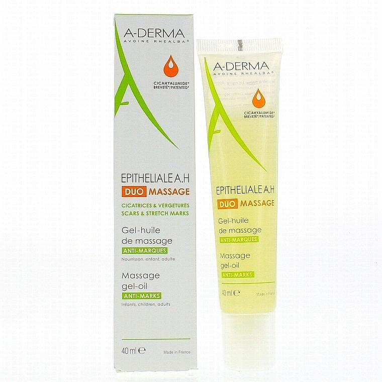 Żelowy olejek do masażu przeciw bliznom i rozstępom - A-Derma Epitheliale AH Massage — фото N3