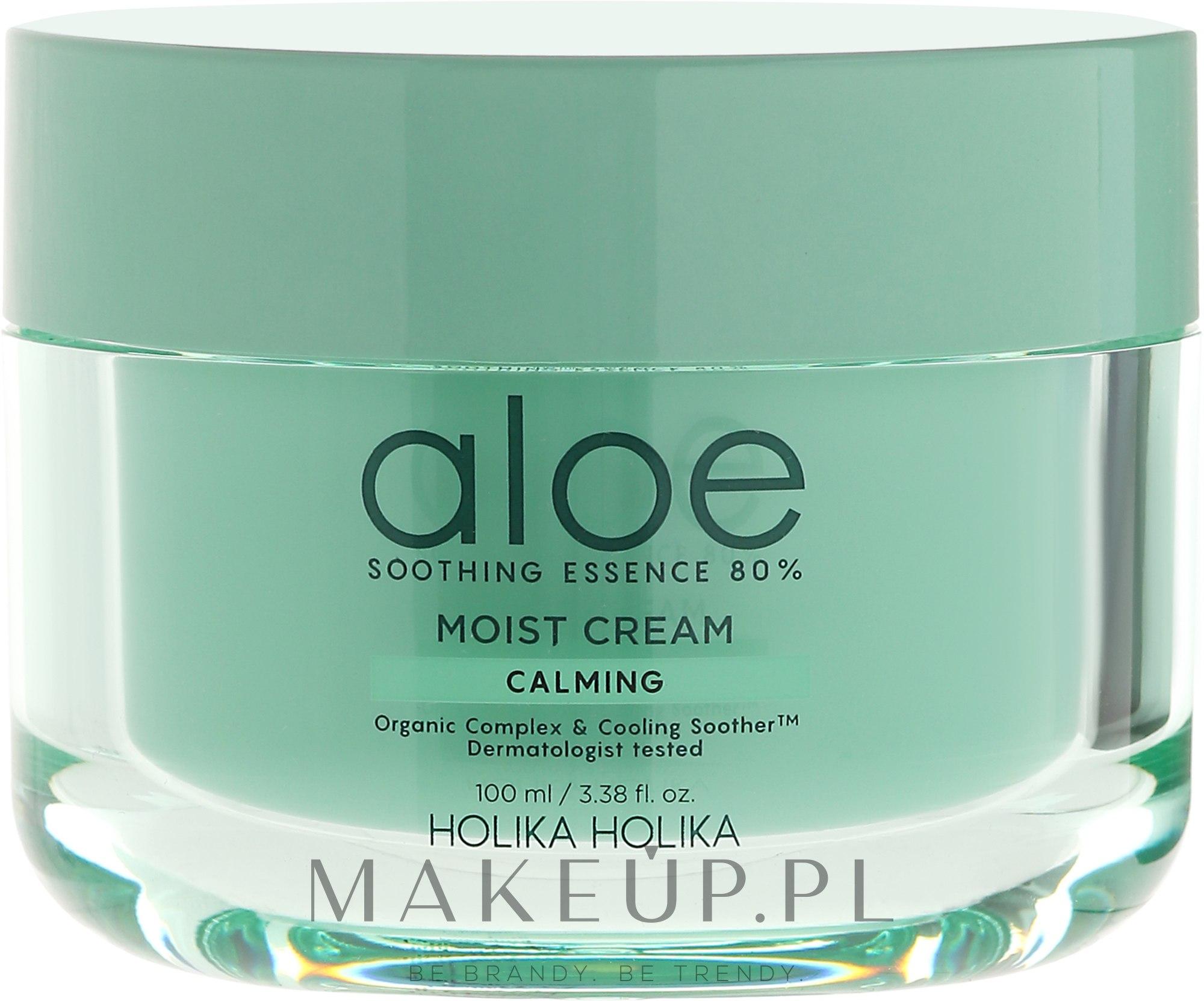Nawilżający krem kojący z aloesem - Holika Holika Aloe Soothing Essence 80% Calming Moist Cream — фото 100 ml