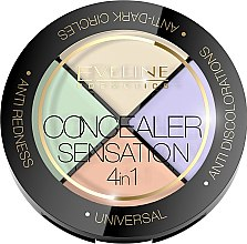 Kup Paletka korektorów do twarzy - Eveline Cosmetics Concealer Sensation 4in1