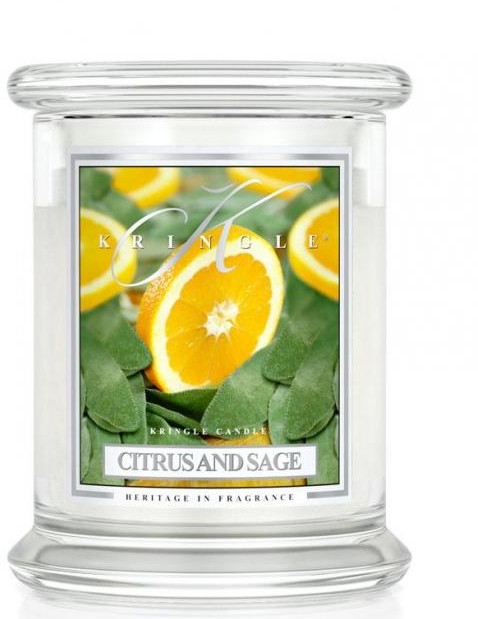 Świeca zapachowa w słoiku - Kringle Candle Citrus and Sage — фото N1