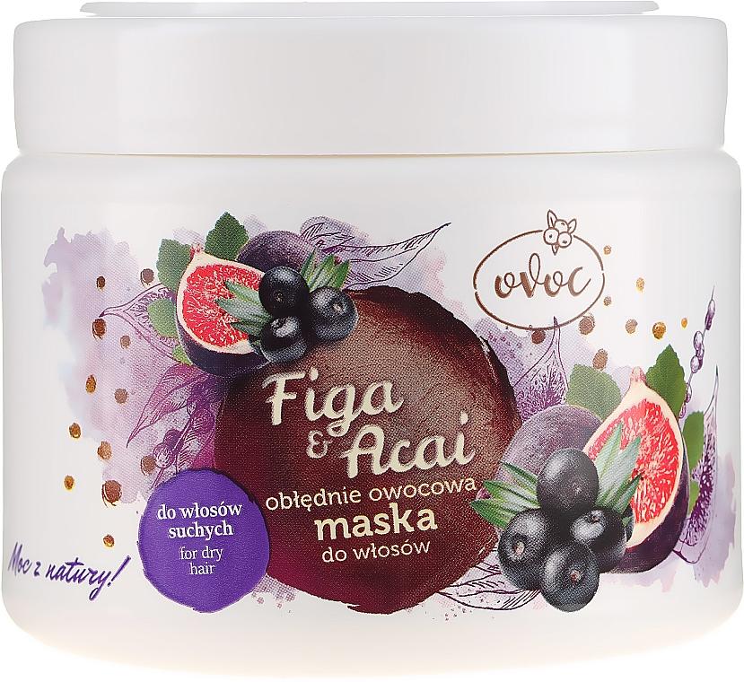 Obłędnie owocowa maska do włosów suchych - Ovoc Figa i acai
