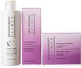 "Kup Zestaw - Transparent Clinic ""Day & Night"" (f/cleancer/200ml + eye/cream/18ml + f/cream/50ml)"
