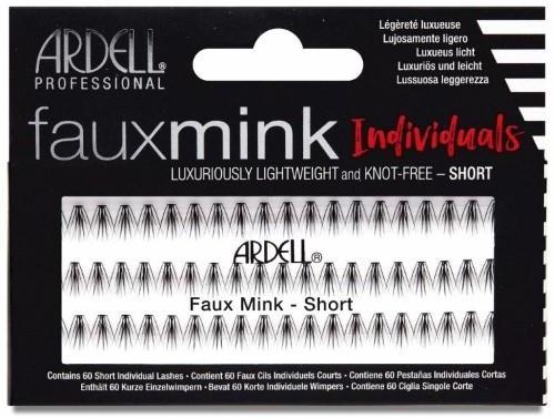 Kępki sztucznych rzęs - Ardell Faux Mink Individuals Knot Free Short Black