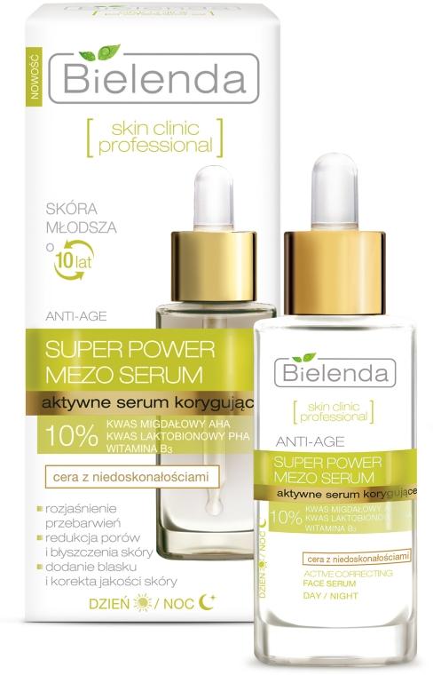 Aktywne serum korygujące Anti-Age na dzień i noc do cery z niedoskonałościami - Bielenda Skin Clinic Professional Mezo