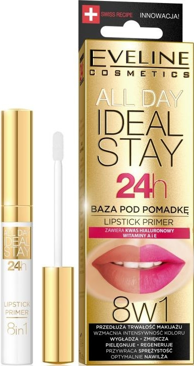 Baza pod pomadkę - Eveline Cosmetics All Day Ideal Stay Lipstick Primer — фото N1