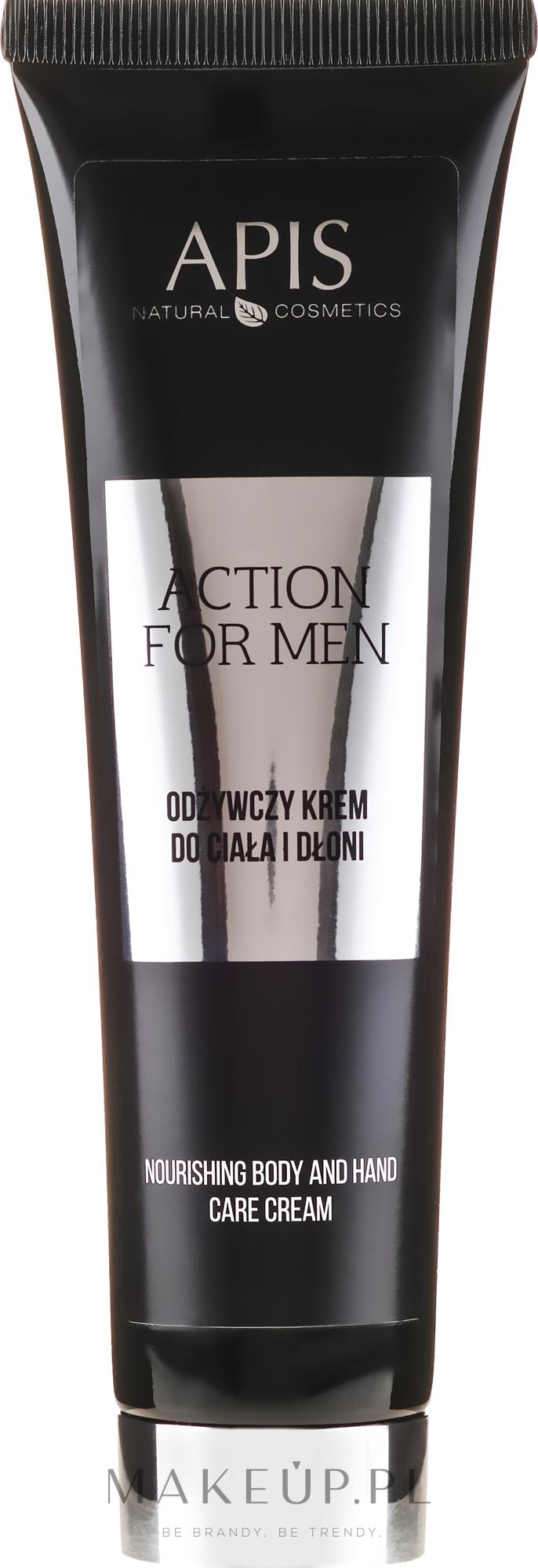 Odżywczy krem do ciała i dłoni - APIS Professional For Men Action Nourishing Cream — фото 100 ml