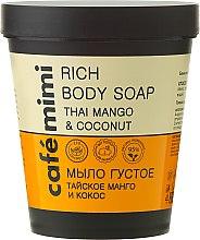 Kup Bogate mydło do ciała Tajskie mango i kokos - Café Mimi Thai Mango & Coconut Rich Body Soap