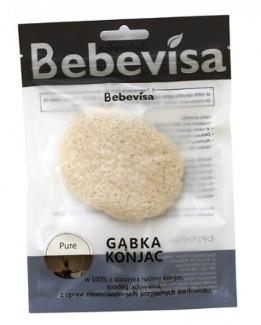 Gąbka konjac do mycia twarzy, owalna - Bebevisa Pure Konjac Sponge — фото N1