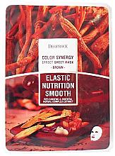 Kup Uelastyczniająca maska odżywczo-wygładzająca na tkaninie do twarzy Czerwony żeń-szeń i kompleks orientalnych ziół - Deoproce Color Synergy Effect Sheet Mask Brown