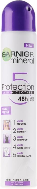Antyperspirant w sprayu - Garnier Mineral Protection 5 Floral Fresh Spray