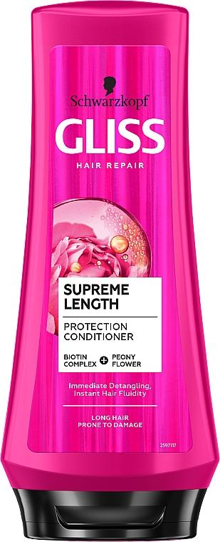 Naprawcza odżywka do włosów długich i skłonnych do zniszczeń - Schwarzkopf Gliss Kur Supreme Length Conditioner