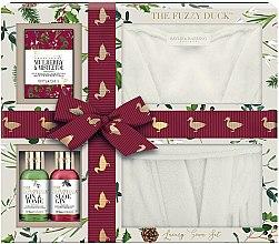 Kup Zestaw - Baylis & Harding The Fuzzy Duck Winter Wonderland Luxury Gown Set (b/wash/100ml + b/lot/100ml + f/cr/75g + gown)