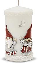 Kup Świeca dekoracyjna, biała, 7 x 14 cm - Artman Dwarves