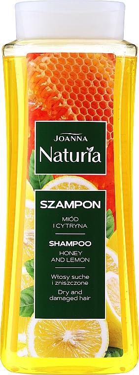 Szampon do włosów suchych i zniszczonych Miód i cytryna - Joanna Naturia