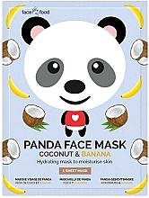 Kup Nawilżająca maska na tkaninie do twarzy z ekstraktem z kokosa i banana - 7th Heaven Face Food Panda Face Mask Coconut & Banana