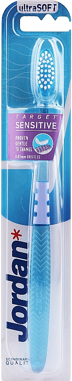 Ultramiękka szczoteczka do zębów, błękitna - Jordan Target Sensitive Ultrasoft — фото N3