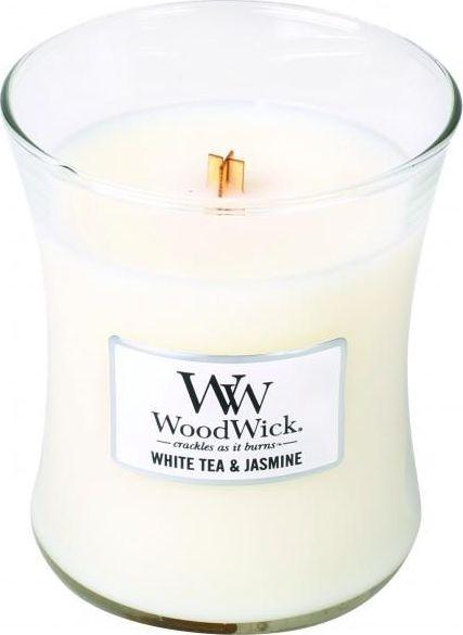 Świeca zapachowa w szkle - WoodWick Hourglass Candle White Tea & Jasmine — фото N1