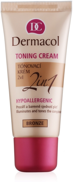 Tonujący krem 2 w 1 - Dermacol Make-Up Toning Cream