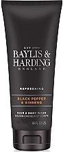 Kup Szampon i żel pod prysznic 2 w 1 dla mężczyzn Czarny pieprz i żeń-szeń - Baylis & Harding Black Pepper & Ginseng
