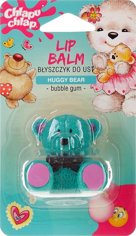 Pielęgnacyjny błyszczyk do ust dla dzieci z woskiem pszczelim o zapachu gumy balonowej Miś Przytulak - Chlapu Chlap