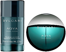 Bvlgari Aqva Pour Homme - Zestaw (edt 100 ml + deo 75 ml) — фото N2
