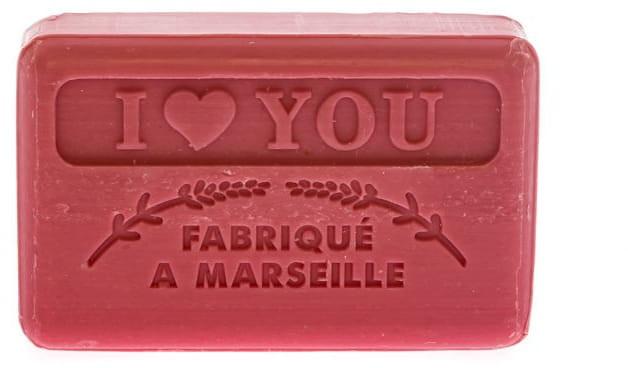 Marsylskie mydło w kostce Kocham cię - Foufour Savonnette Marseillaise I Love You — фото N1