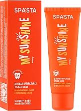 Kup Naturalna pasta do zębów dla dzieci Zapobieganie próchnicy i wzmacnianie szkliwa - Spasta My Sunshine