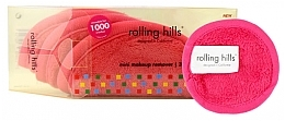 Kup Wielorazowe ręczniki do demakijażu twarzy, różowe - Rolling Hills Mini Makeup Remover Pink