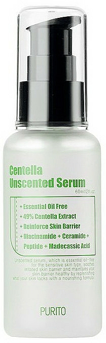 Serum do twarzy z wąkrotą azjatycką - Purito Centella Unscented Serum