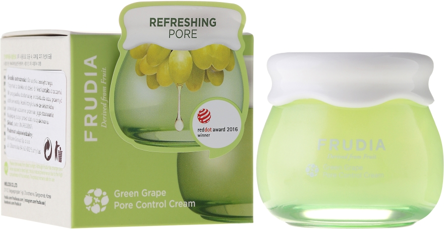 Winogronowy krem do twarzy wyrównujący gospodarkę hydrolipidową - Frudia Pore Control Green Grape Cream — фото N1
