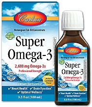 Kup Suplement diety Omega-3 o smaku cytrynowym - Carlson Labs Super Omega 3 Norwegian Fish Oil Concentrate Lemon 2600
