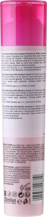 Micelarny szampon do włosów farbowanych - Schwarzkopf Professional Bonacure Color Freeze Rich Micellar Shampoo — фото N2