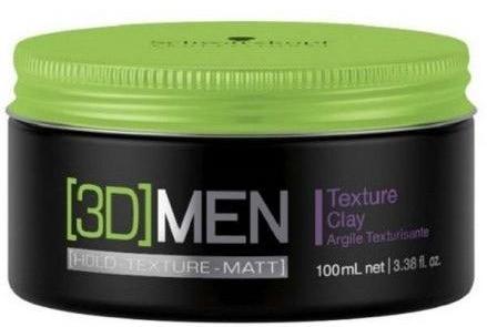 Teksturyzująca glinka do włosów dla mężczyzn - Schwarzkopf Professional 3D Mension Texture Clay