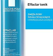 Mikrozłuszczający tonik zwężający pory skóry - La Roche-Posay Effaclar Astringent Lotion Micro-Exfoliant — фото N3