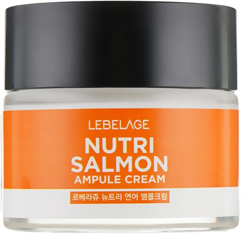 Odżywczy krem z olejem z łososia - Lebelage Ampule Cream Nutri Salmon — фото N2