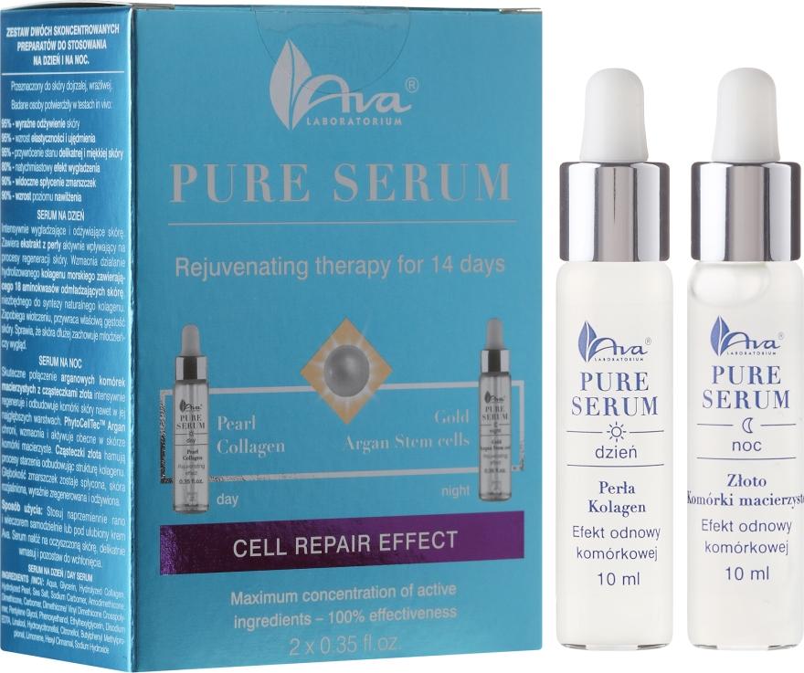 Ekspresowa 14-dniowa kuracja odmładzająca - AVA Laboratorium Pure Serum Efekt odnowy komórkowej