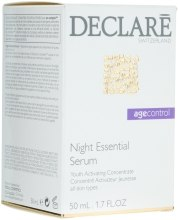 Kup Regenerujące serum do twarzy na noc - Declare Age Control Night Repair Essential Serum