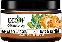 Kup Maska do włosów suchych i zniszczonych Szpinak i dynia - Eco U Pumpkins And Spinach Mask