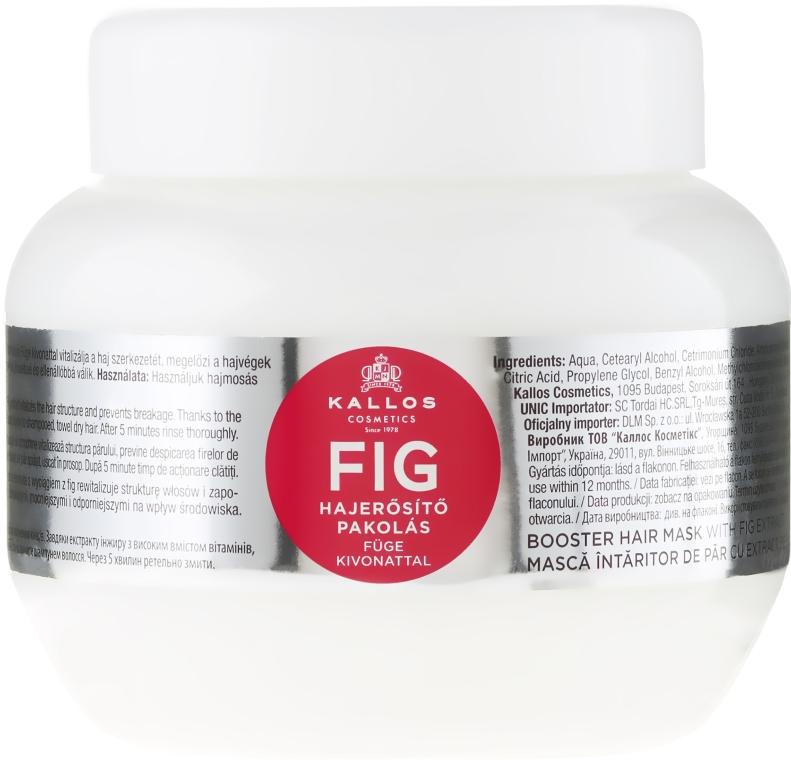 Wzmacniająca maska do włosów z wyciągiem z fig - Kallos Cosmetics Fig Booster Hair Mask With Fig Extract