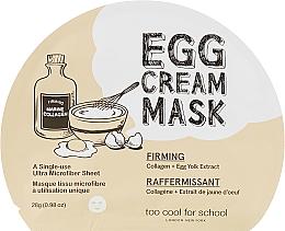 Kup Maseczka w płachcie do twarzy Kolagen i ekstrakt z żółtka jajka - Too Cool For School Egg Cream Mask Firming