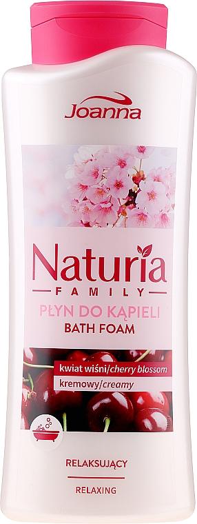 Relaksujący płyn do kąpieli Kwiat wiśni - Joanna Naturia Family — фото N1
