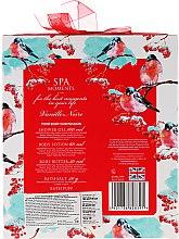 Zestaw - Spa Moments Vanille Noire (sh/gel 100 ml + b/lot 60 ml + butter 50 ml + salf 50 g + sh/sponge) — фото N2