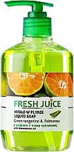 Kup Mydło w płynie z olejkiem z trawy cytrynowej Tangerynka i palczatka - Fresh Juice Green Tangerine & Palmarosa