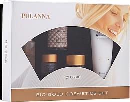 Kup Zestaw - Pulanna Bio-Gold (eye/gel/21g + f/cr/2x60g + f/ton/60g + cl/milk/90g)